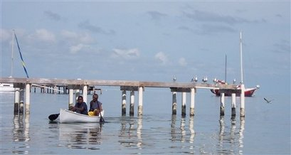 The beaches of Ambergris Caye, Belize, shown in this December 2005 photo, often
