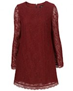 Topshop lace dress, $100.