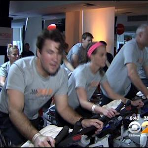 New Yorkers Cycle Against Cancer In Midtown