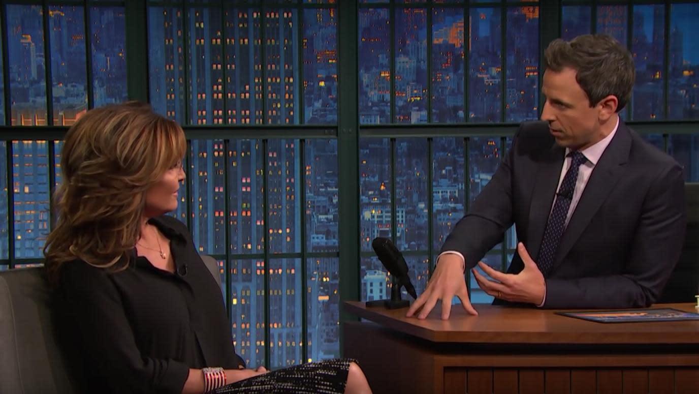 Seth Meyers explains Syrian refugee vetting process to Sarah Palin