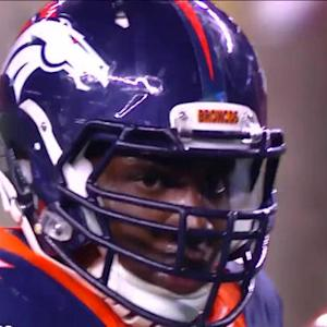 Denver Broncos defensive end DeMarcus Ware takes down Kaepernick for the 3rd time