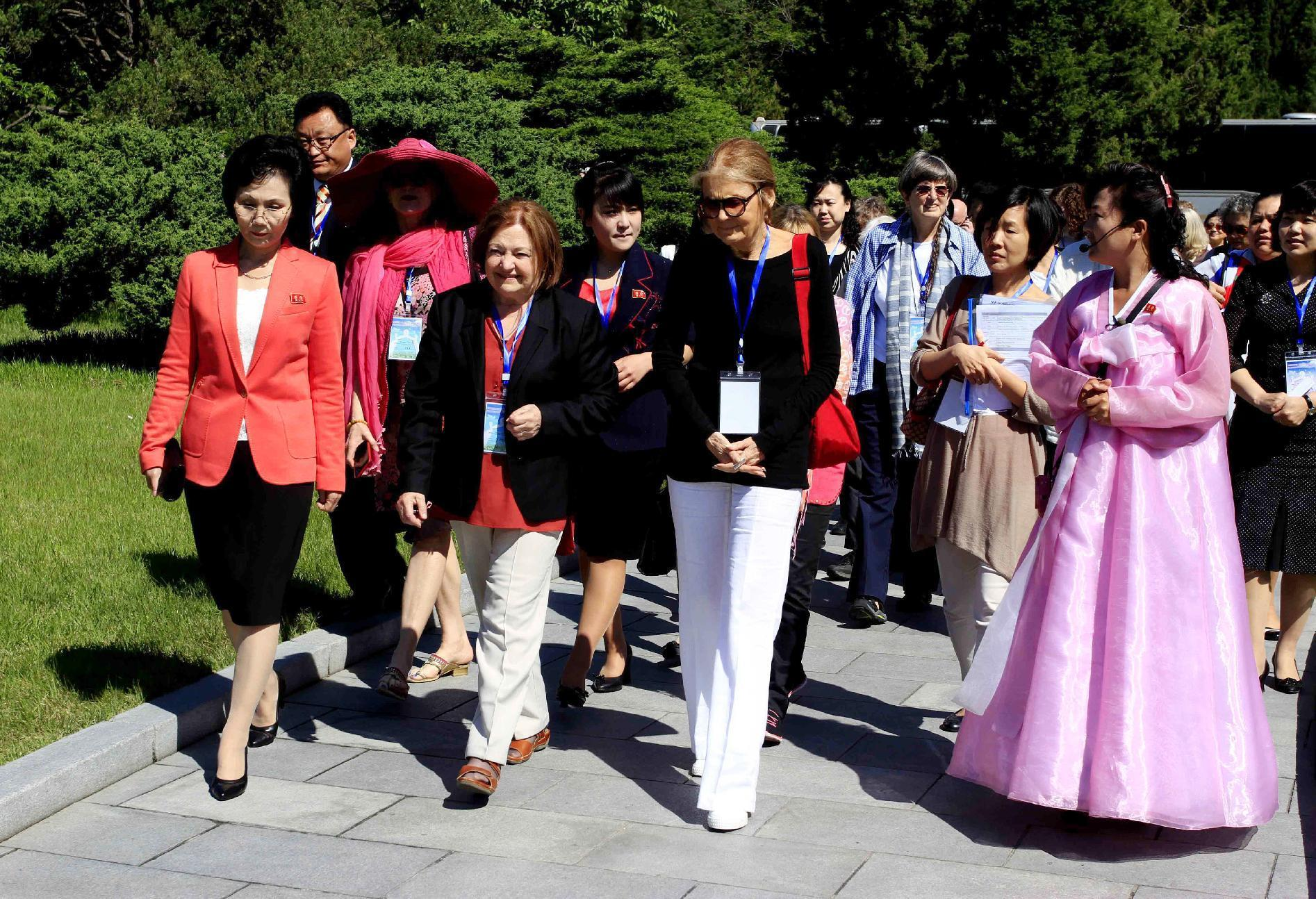 Female peace activists say Korean DMZ walk is still on