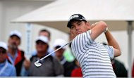 Louis Oosthuizen of South Africa tee's off on the 1st hole during the second round of The Volvo Champions in Durban on January 11, 2013. Oosthuizen birdied the final hole to take a one-shot lead after two rounds of the Volvo Golf Champions tournament at Durban Country Club