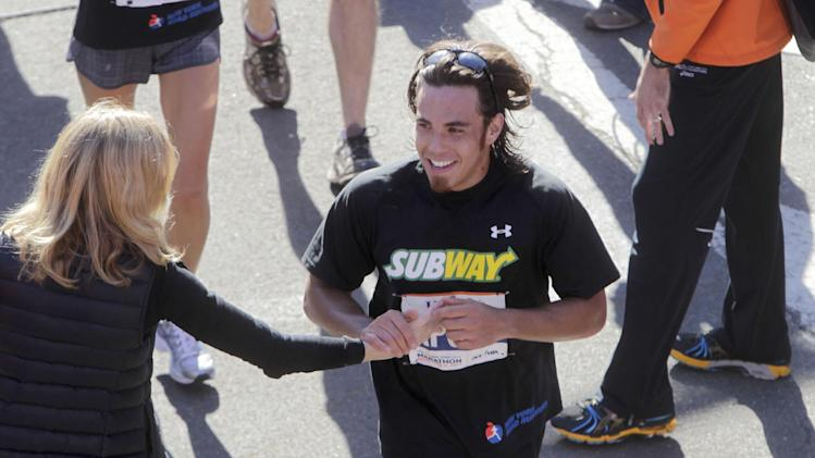 Apolo Ohno training to compete at Ironman