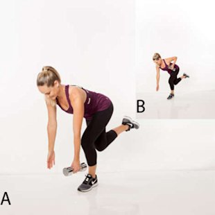 Single-leg squat row