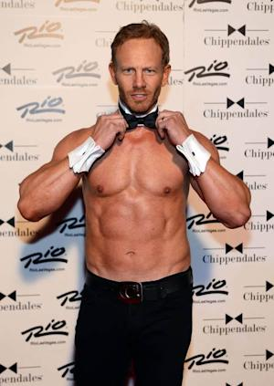 Ian Ziering debuts in Chippendales at the Rio All-Suite Hotel and Casino on June 8, 2013 in Las Vegas -- Getty Premium