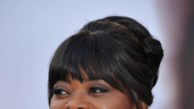 Actress Octavia Spencer arrives at the 85th Academy Awards at the Dolby Theatre on Sunday Feb. 24, 2013, in Los Angeles. (Photo by John Shearer/Invision/AP)