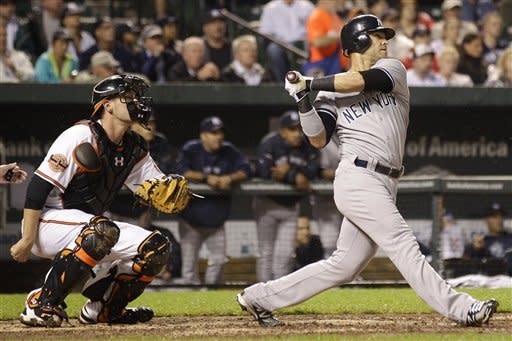 Teixeira HR lifts Yankees over Orioles 8-5