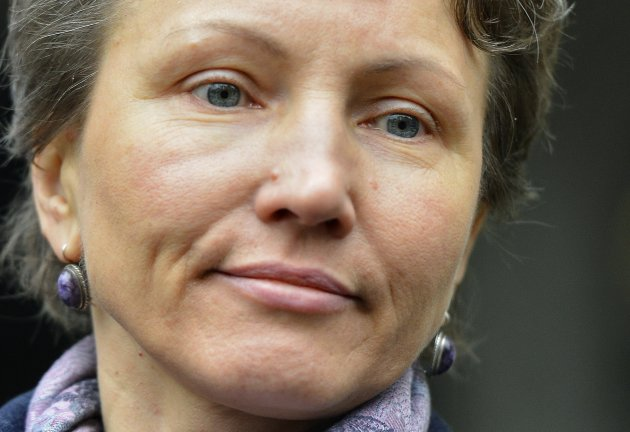 Marina Litvinenko, the wife of former KGB agent Alexander Litvinenko leaves the High Court in London