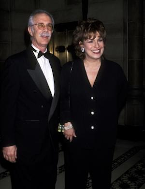 Steven Janowitz and Joy Behar in New York on April 26, 2001 -- WireImage