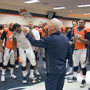 Denver Broncos celebrate win, look to continue winning streak