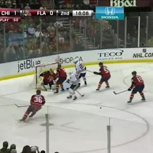 Roberto Luongo Save on Duncan Keith (01:54/2nd)