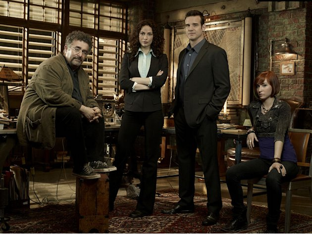 The cast of &quot;Warehouse 13.&quot; 