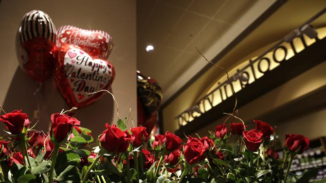 File photo of roses for Valentine's Day at the Safeway store in Wheaton Maryland