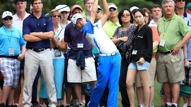 Tianlang Guan at the Masters (AFP)