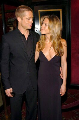 Premiere: Brad Pitt and Jennifer Aniston at the New York premiere of Warner Brothers' Troy - 5/10/2004