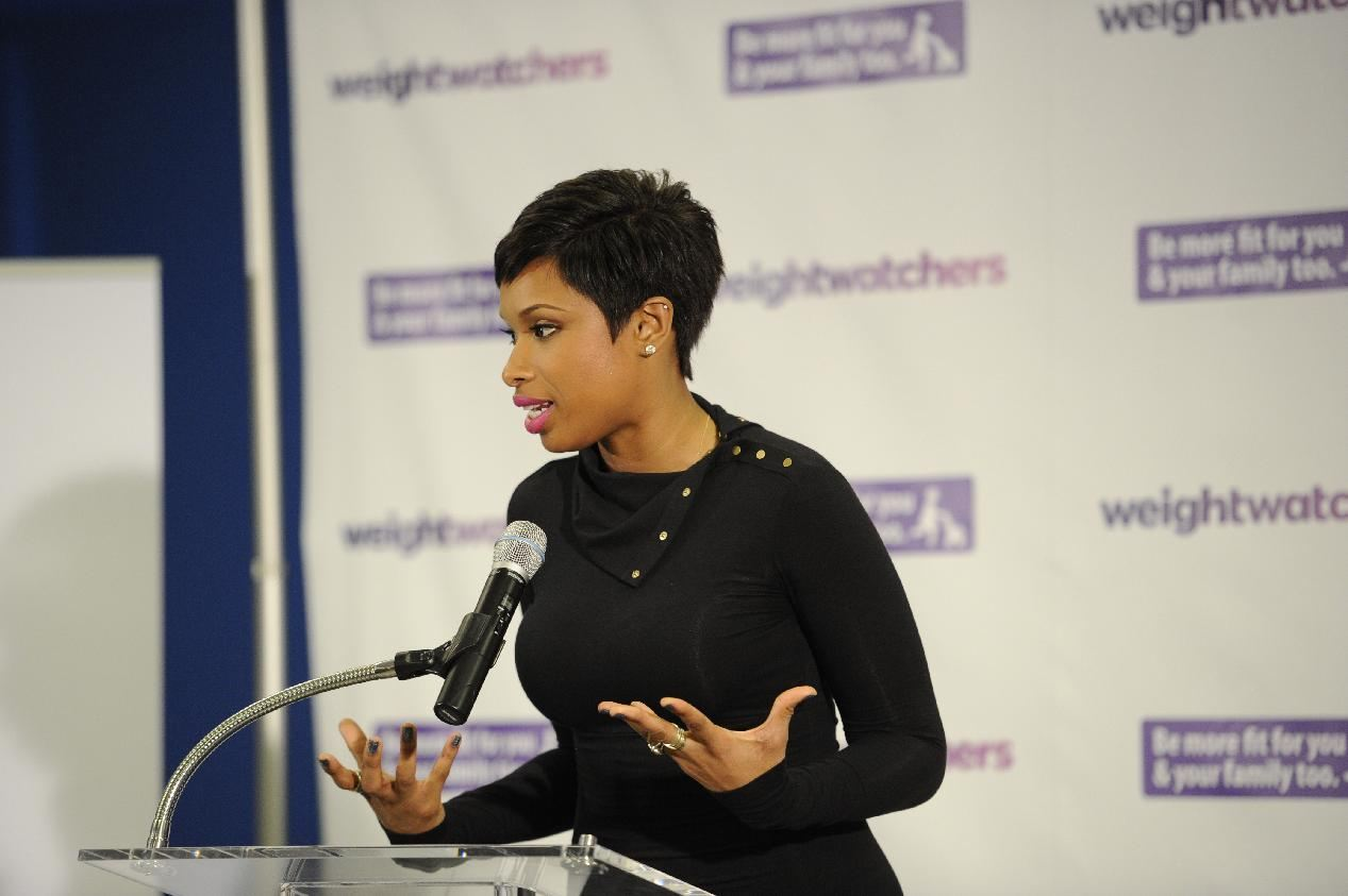 Jennifer Hudson speaks at the Weight Watchers and U.S. Conference of