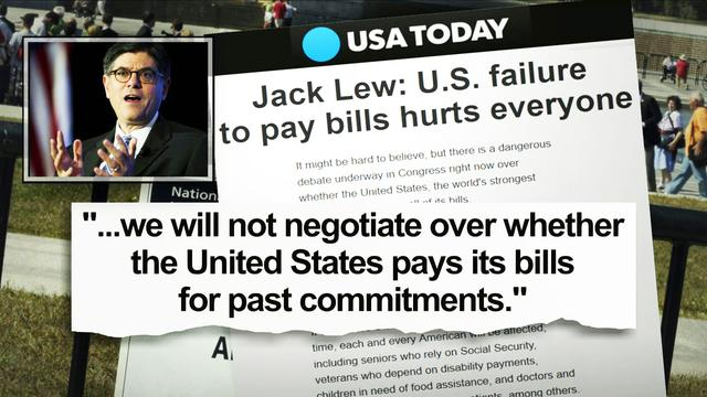 "Lew: ""We will not negotiate over whether U.S. pays its bills"""