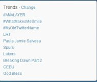 Amalayer tops the PH Twitter trend for November 14.