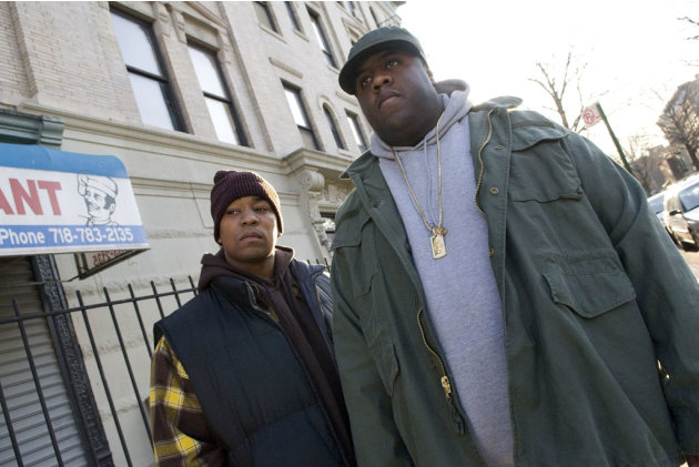 Kevin Phillips Jamal Woolard Notorious Production Stills Fox Searchlight 2009