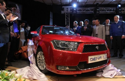 "<p>Iran's leading automaker Iran Khodro unveils a new local saloon branded ""Dena"" in Tehran last year. Iran's auto production fell by more than 36% over the past three months, the industry ministry was quoted by ISNA news agency as saying on Saturday, citing ""lack of money.""</p>"