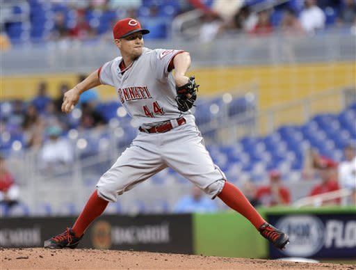 Choo's 2 homers help Reds beat Marlins 4-0