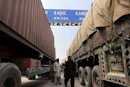 <p>File picture of Pakistani trucks in Torkham, close to the Pakistan-Afghanistan border. The first trucks supplying NATO troops in Afghanistan crossed the border from Pakistan on Thursday after Islamabad ended a seven-month blockade.</p>
