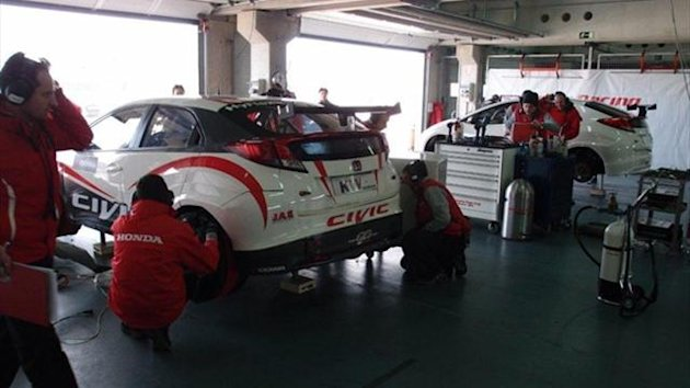 Honda Racing Team JAS are currently testing for three days at Aragón Motorland