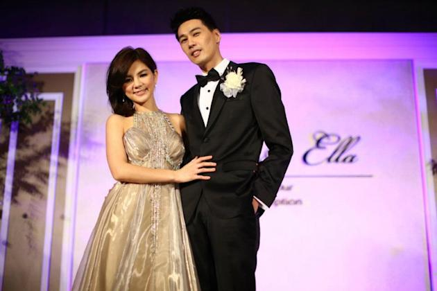Ella, 31, became the second member of S.H.E to tie the knot when she married Alvin, 36, on Saturday.
