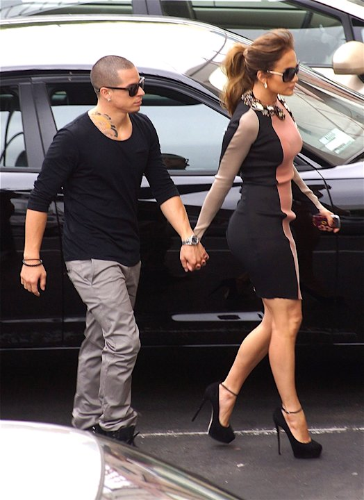 Jennifer Lopez and Casper Smart arrive at Boulevard3 to announce her upcoming tour Los Angeles, California - 30.04.12 Credit: (Mandatory): WENN.com  * JENNIFER LOPEZ AND ENRIQUE IGLESIAS TEAM UP FOR S