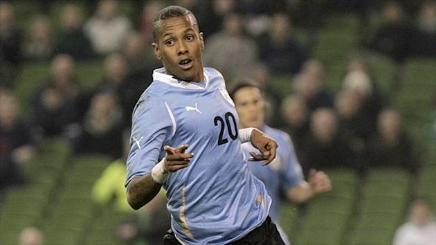 Abel Hernandez in action for Uruguay (PA Photos)
