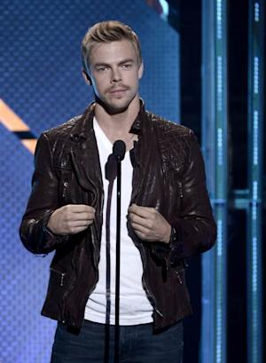 Derek Hough speaks onstage during CW Network's 2013 Young Hollywood Awards presented by Crest 3D White and SodaStream held at The Broad Stage on August 1, 2013 -- Getty Images