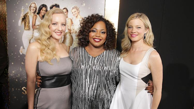 Wendi McLendon-Covey, Cocoa Brown and Amy Smart seen at The World Premiere of TYLER PERRY'S 'The Single Moms Club' presented by Lionsgate on Monday, Mar. 10, 2014 in Los Angeles. (Photo by Eric Charbonneau/Invision for Lionsgate/AP Images)