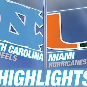 North Carolina vs Miami | 2014-15 ACC Men's Basketball Highlights