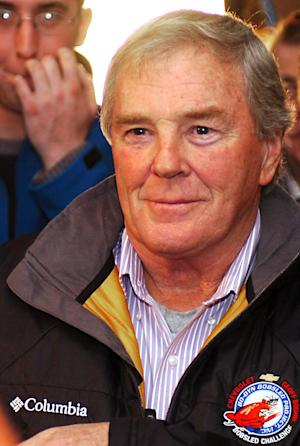 FILE - In this Jan. 5, 2006, file photo, former NASCAR driver Dick Trickle attends a driver's meeting for the Bodine Bobsled Challenge at the Olympic Center in Lake Placid, N.Y. Authorities in North Carolina said Thursday, May 16, 2013, that Trickle has died of an apparent self-inflicted gunshot wound. He was 71. (AP Photo/Mark Goldman, File)