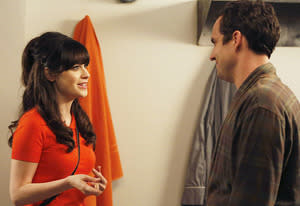 Zooey Deschanel and Jake Johnson | Photo Credits: Greg Gayne/FOX