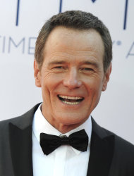 Actor Bryan Cranston arrives at the 64th Primetime Emmy Awards at the Nokia Theatre on Sunday, Sept. 23, 2012, in Los Angeles. (Photo by Jordan Strauss/Invision/AP)