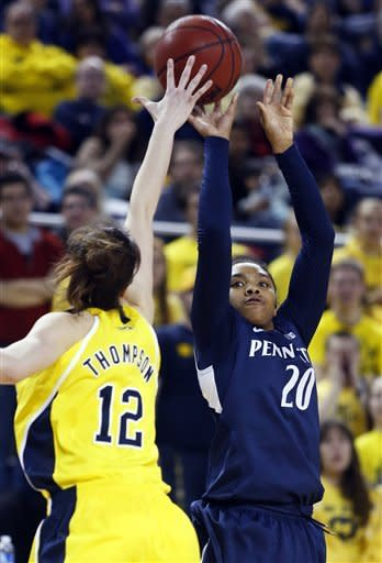 No. 8 Penn State tops No. 23 Michigan 59-49