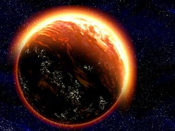 red planet earth