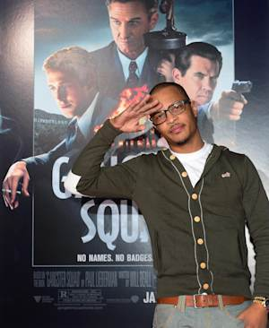 """Hip hop artist T.I, Clifford Joseph Harris Jr., at the January 2013 premiere of """"Gangster Squad"""""""