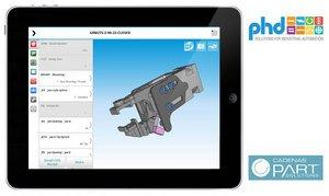 3D CAD App: PHD Inc. Launches Mobile Sales Configurator App Powered by CADENAS PARTsolutions