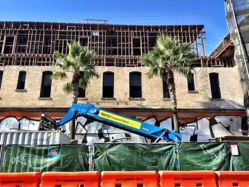 Construction Watch: Hugo Hotel Now Partly Defenestrated; Affordable Rentals Rising