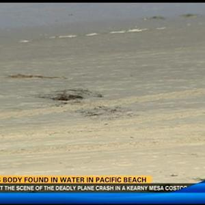 Man's body found on beach in PB