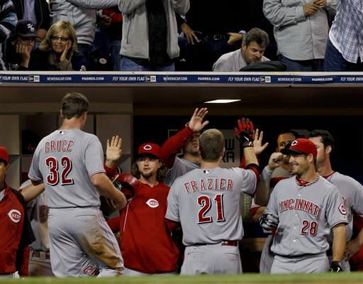 Arroyo pitches 3-hitter, Reds beat Padres 6-0