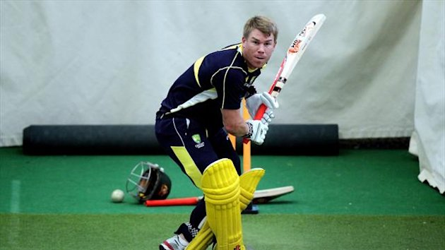 David Warner fractured his thumb during a net session