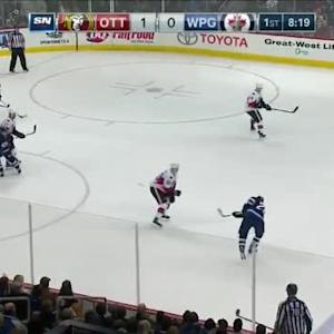 Andrew Hammond Save on Blake Wheeler (11:44/1st)