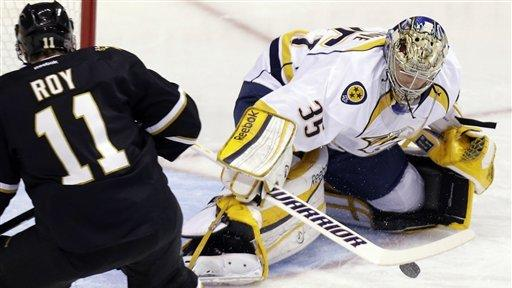 Preds' Rinne makes 32 saves, earns 5th shutout