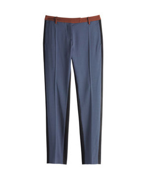 True Royal Colorblock cotton-and-wool pants