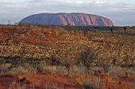 Uluru (Ayers Rock) in central Australia. A coroner Tuesday ruled that a dingo took baby Azaria Chamberlain, who vanished from the Australian desert 32 years ago in a case that caused a worldwide sensation