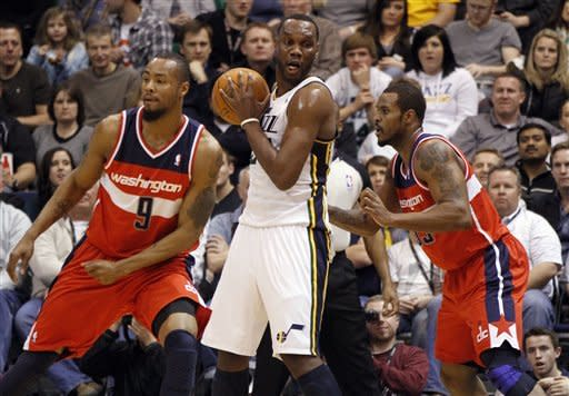 Jefferson scores 34 as Jazz beat Wizards 114-100